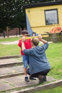 Installing playground equipment