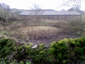 Before pond restored on a Derbyshire farm