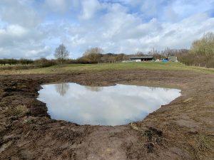 Wildscapes pond creation in Derbyshire 2021